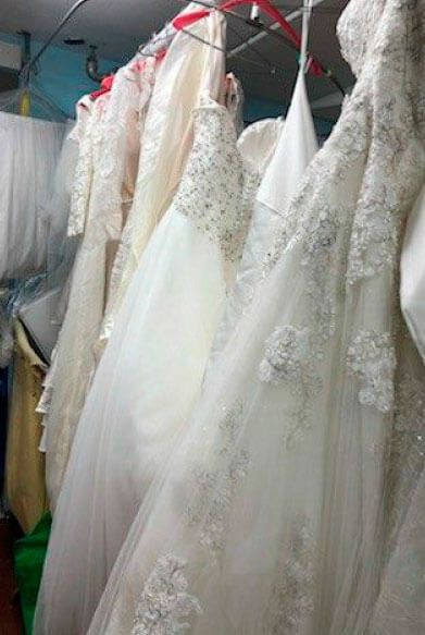Wedding dress dry clean and boxing