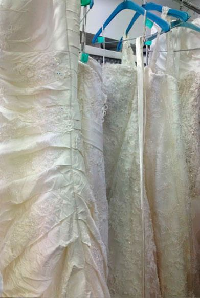 Wedding dress dry clean
